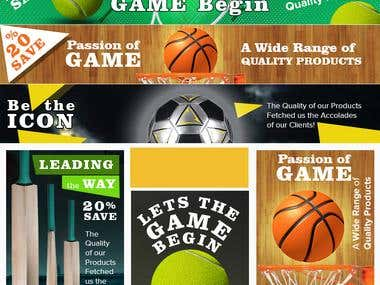 Sports Web Ad Banners