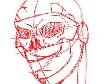 Skull American Indiian Urban Style