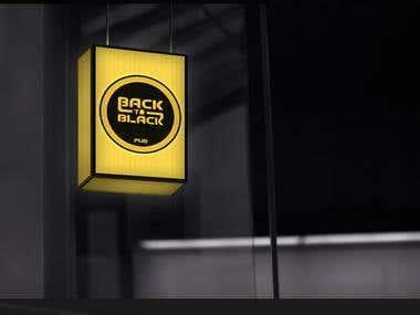 Logo Design for Back To Black Pub