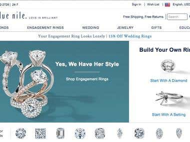 Blue Nile Fine Jewelers - The Ring Builder