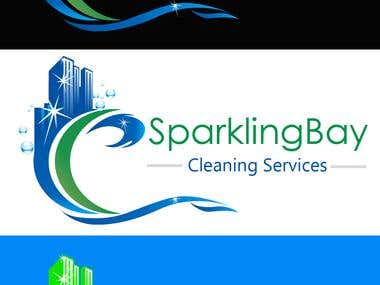 SparklingBay Clearning Logo & Business Card