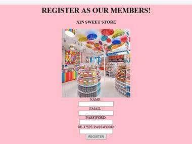 Ain Sweet Store Website