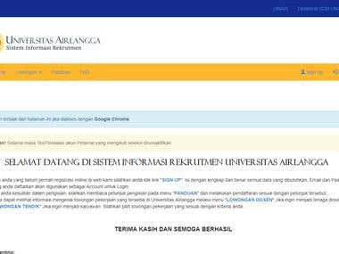 Airlangga University Employees Recruitment System