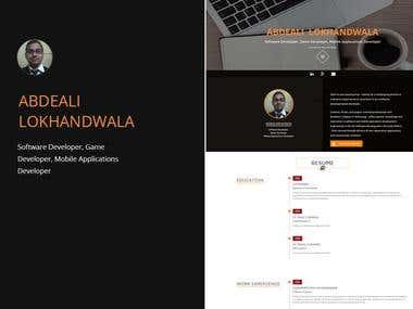 Portfolio style website
