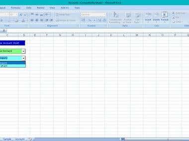 Personal Loan Account Tracking System developed in VBA