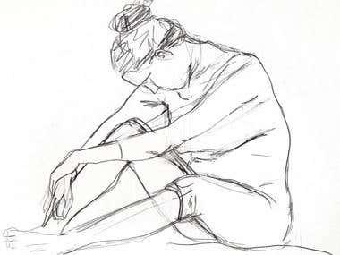 Human Body drawings - Dibujos de figura humana