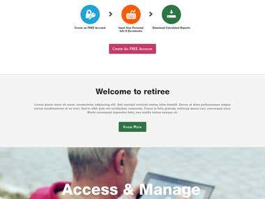 Retiree Portal Design