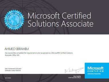 MCSA office 365 service cloud