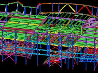 My previous work on Tekla Structures.