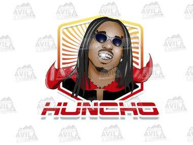 Huncho SuperHero Illustration