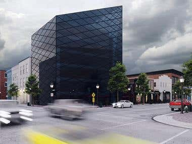 //Exterior visualization / Office building
