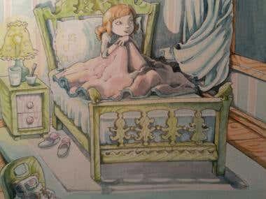 "Detail of an illustration for ""Secret World"" by Peter Fenner"