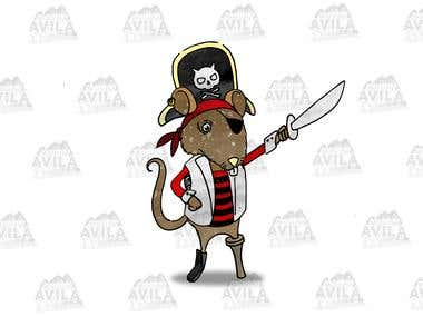 Pirate Mouse Illustration