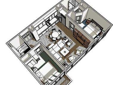 Condominium Space Study only (Not a finished product)