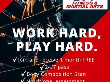 Flyer Work Hard Play Hard