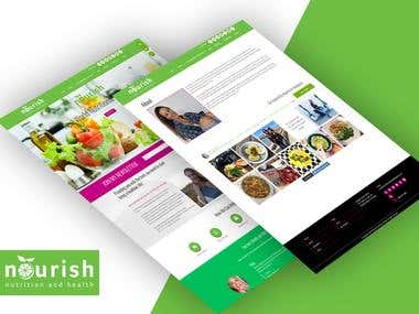 Nutrition and health products selling website