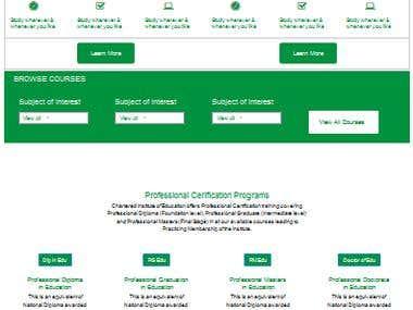 Education Wordpress Website