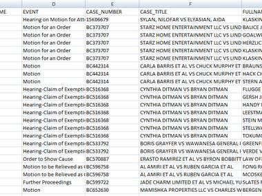 Web Scrape - 3 Court Categories - 10 000+ Atty Emails