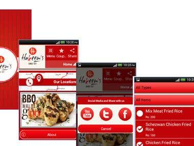 Food Oredering App- Hakeem's mobile App