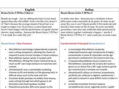 English to Italian