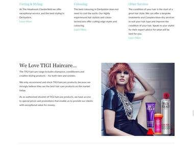 Website design for salon