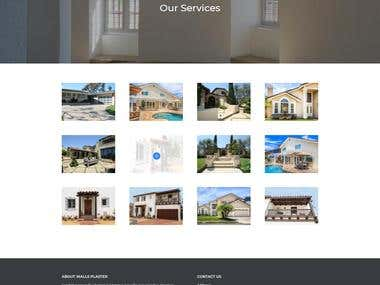 Website design for plastering services