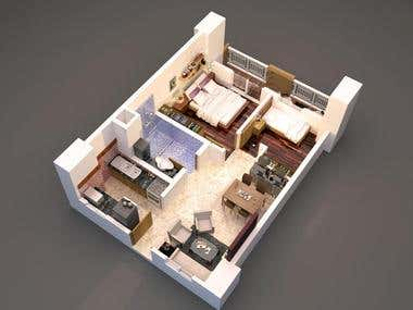 3D Floor Plans of the Buildling Interior