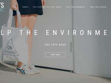Tote Bags Website