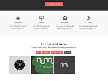 Psd to html 5 Responsive design