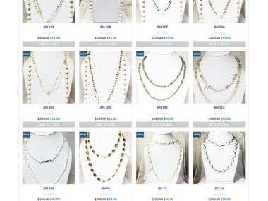 E commerce website for Jewelry