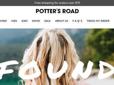 Potter's Road Website