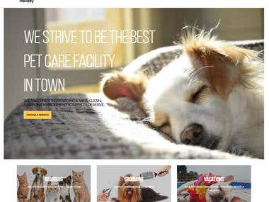 Pet Holiday Shopify Site