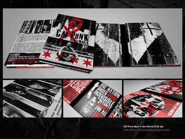 CM Punk DVD Packaging Design