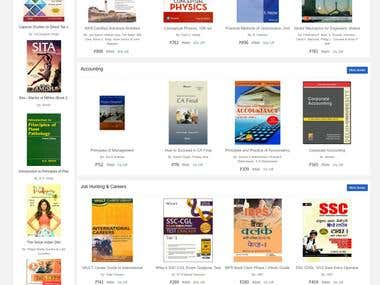 E-Commerce Web Application for books