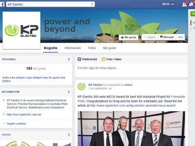 KP Electrical (Facebook landing page)
