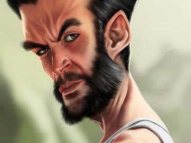 Caricature Wolverine