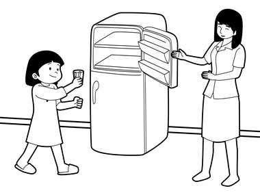 coloring book / children book /outline illustration