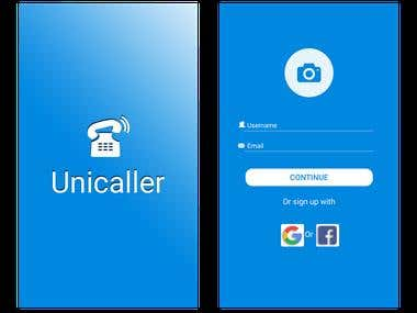 Uni caller app for mobile platform