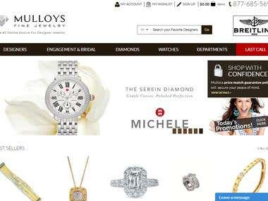 Jewelry Store eCommerce with Chat Functionility