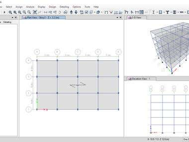 Structural analysis of multistory building