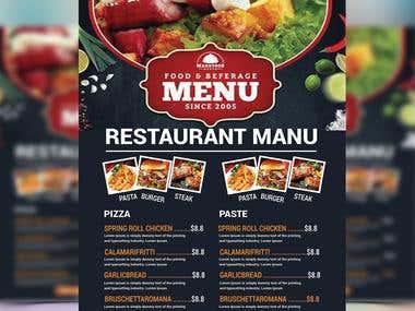 Design a Flyer food manu