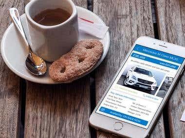 Car iPhone App UI design