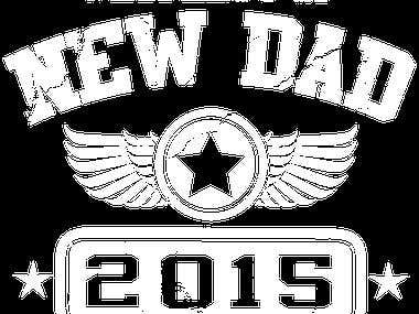New Dad 2015 (Logo On Shirt)