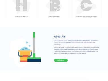 Website Design for Cleaning Company