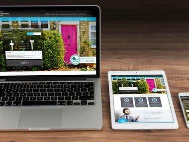 Mortgage website - desktop and mobile