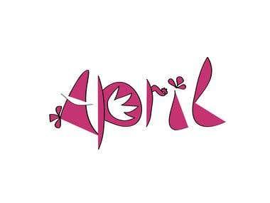 Design typographic logo for 'april'.....contest entry