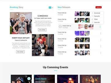 DJs based website