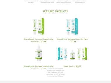 Blisque : Single Product Custom Shopify Store