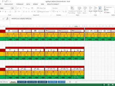 Excel -Analyses and calculation of raft foundation
