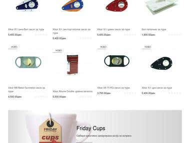 Web development & Design for Fridayshop